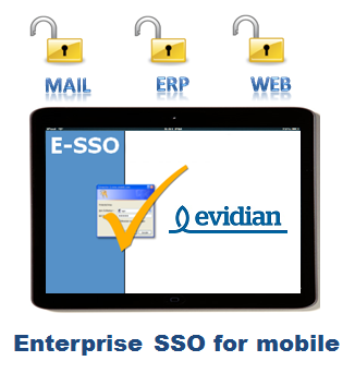Android SSO and iOS SSO are implemented by Evidian Enterprise SSO for mobile.