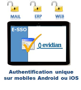 Evidian Enterprise SSO for mobiles offre une solution de mot de passe unique pour des mobiles Android et iOS.