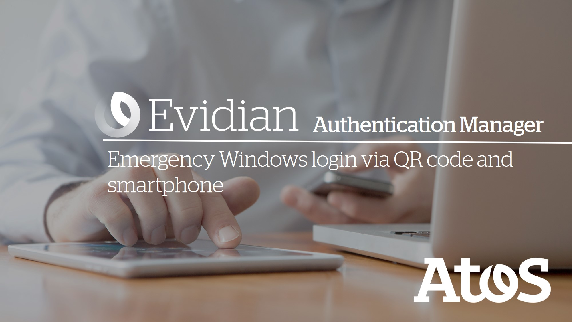 Evidian QRentry - A self-service password reset tool with a smartphone and a QR code