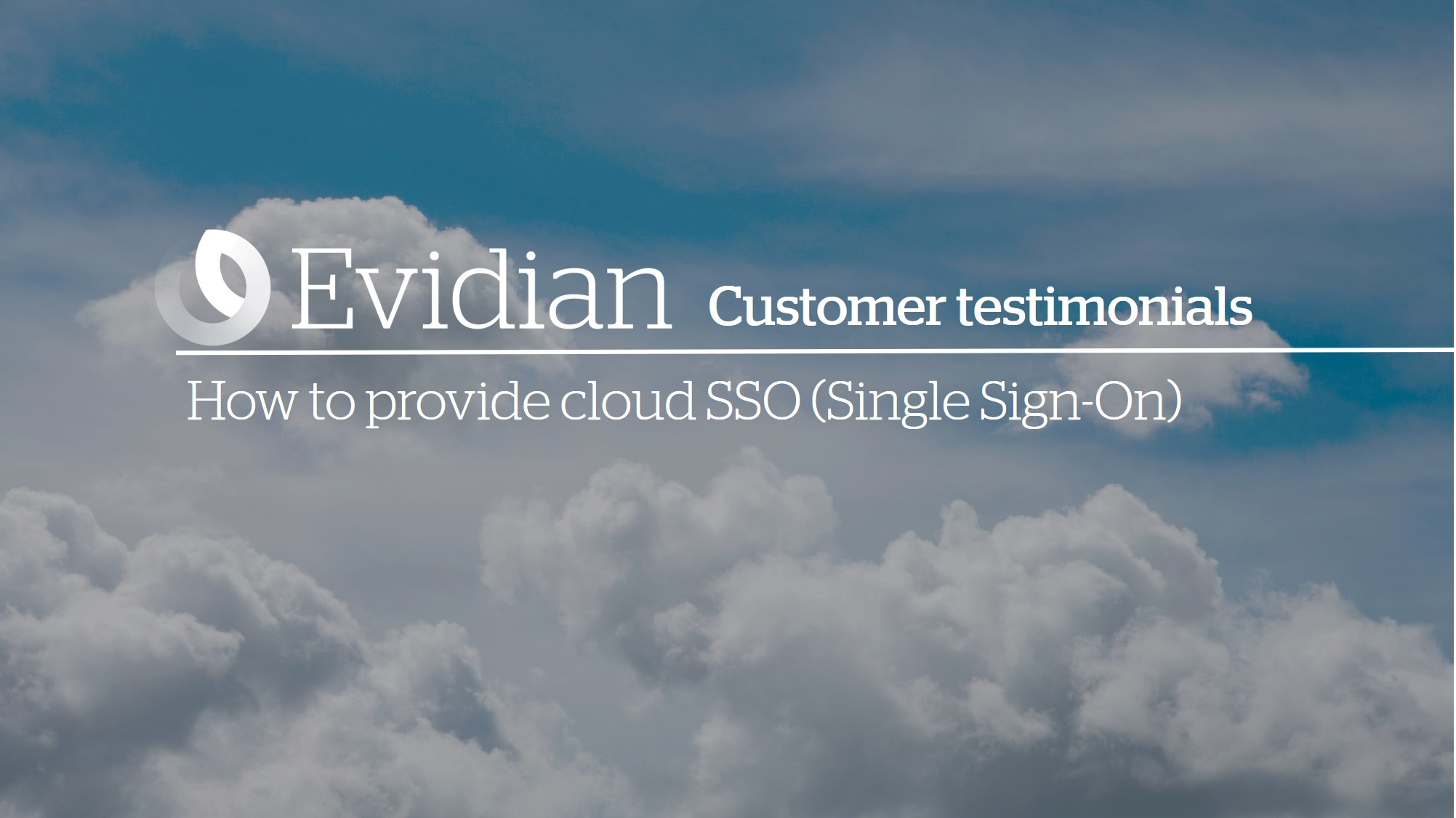 How to provide cloud SSO