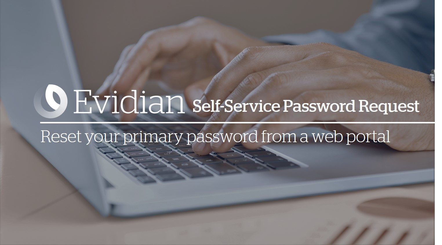 Reset your primary password from a web page